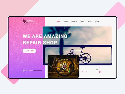 Repair Shop Hero Image hero image website design homepage landing page design ux design ui design servicing service shop repair