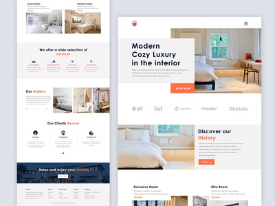 Luxury Hotel Landing Page