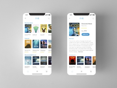 E-book Mobile UI