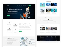 AI & Machine Learning Agency Landing page
