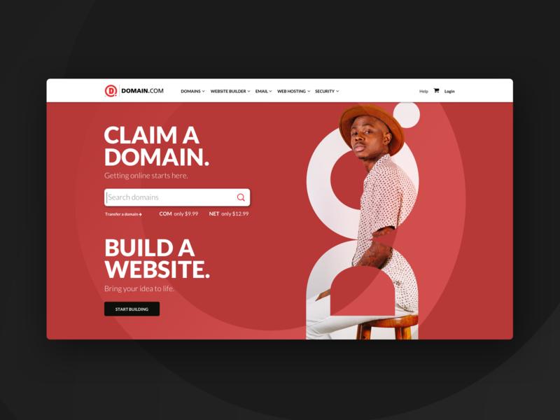Domain Hero Concepts hero hero image website design branding