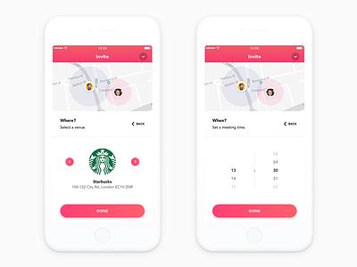 Now - Find Match minimal clean animation social dating 2d marketing typography logo ios illustration design branding app ixd ux ui