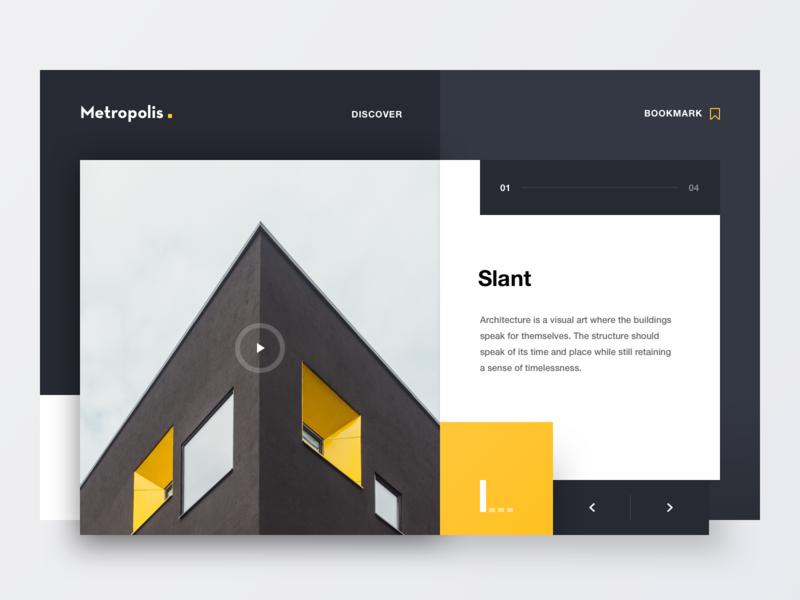 Metropolis website lettering type minimal clean geometry colours 2d marketing typography logo design branding web ixd ux ui