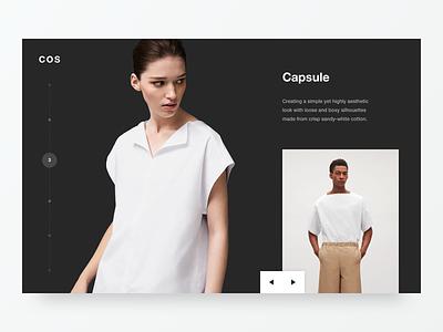 COS Capsule flat type minimal clean 2d typography logo design web ux ui