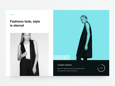 Stylist web geometry flat type minimal clean colours 2d typography design ux ui