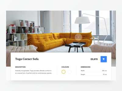 Togo Sofa website minimal type flat clean colours 2d marketing typography design web ux ui