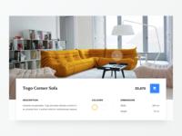 Togo Sofa website minimal type flat clean colours 2d marketing typography design web ux ui