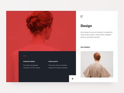 Fashion Week geometry website flat type clean minimal web colours 2d marketing typography design ux ui