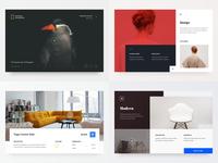 2018 2d geometry website flat icon typography type branding colours web ux ui clean design minimal