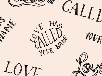 LOVE CALLED sketch illustrator handletters hand drawn handletter handmade draw netherlands dutch badgedesign lettering letter handlettering handwritten typeface typography typo