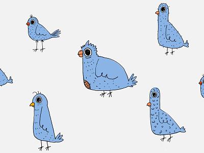 ugly birds pattern pattern bird icon vector fun nederland bird illustration ugly bird birds handmade handdraw dribbble netherlands illustration dutch