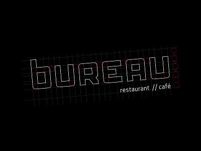 Logo design voor BUREAU lettermark typo typogaphy type typeface lettering logos logodesign logotype logo design desk bureau grid design logo