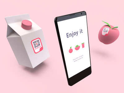 3D render for a new app Pinch. (scan & pay)