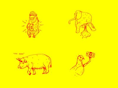 Illustrations for a portfolio night event - 02