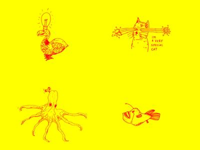 Illustrations for a portfolio night event - 06