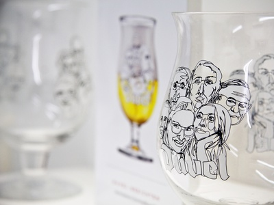 Duvel glass contest happy draw design label ale glass glasses face drink invite drawing faces illustraion alcohol bier beer duvel