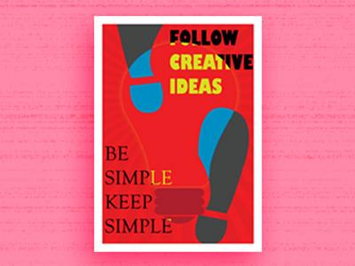 Minimal Poster graphic design illustrator
