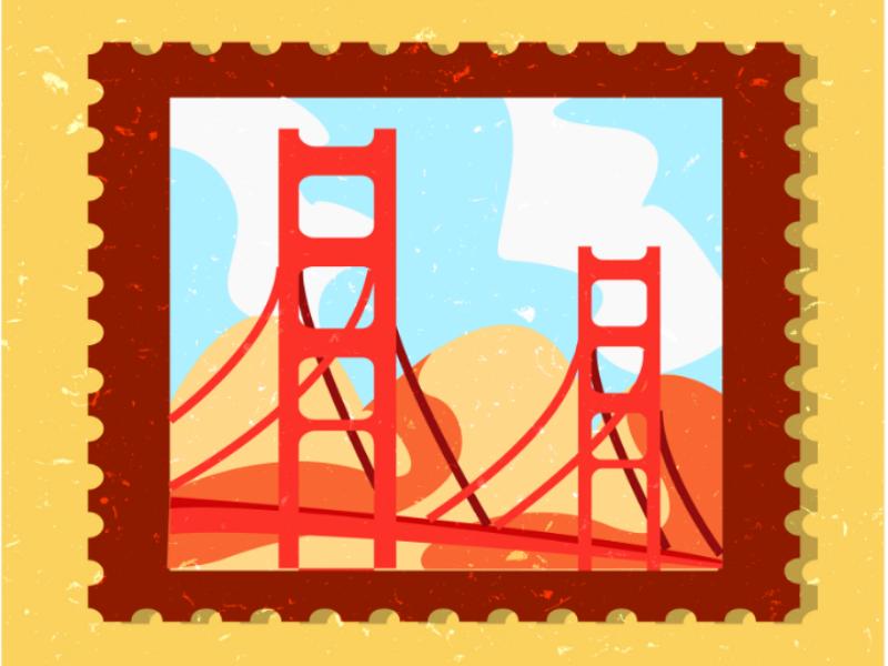 Stamp Design visual design illustrator art