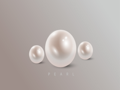 3D Pearl visual design graphic design