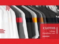 Cloth Shop Presentation shopping clothing brand products uiux presentation design presentation ui design visual design
