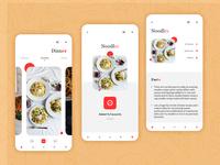 Food App Prototype noodles food food app app mobile app visual design ui design uiux