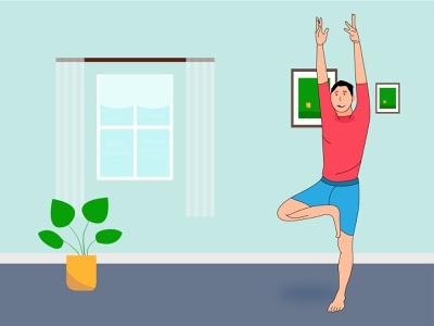 Yoga Man art visual design graphic design presentation design corporate design artwork visual design illustrator art illustration uiux ui design visual design