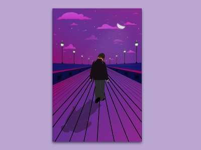 Bridge Walk colorful trend illustrator artwork artist visual design graphic design illustration