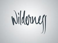 Wilderness Lettering