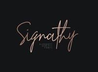 Signathy signature script font