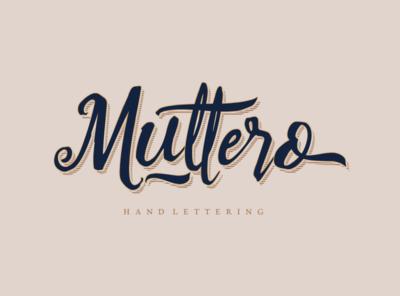 Muttero script hand lettering font