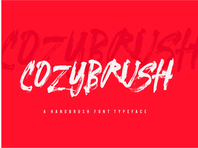COZYBRUSH FONT hand lettering