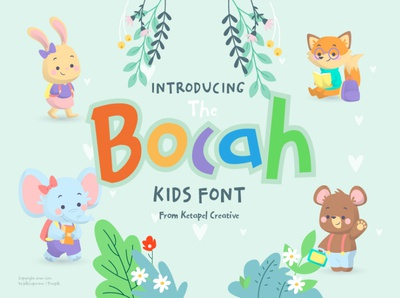 the bocah free handwritten comic font cartoon cute