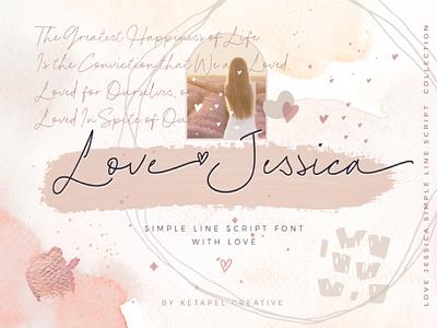 Love Jessica love jessica ttf otf timeless elegant simple line font handwritten script font handletter typography