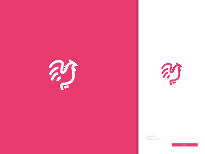 Pink Roaster logo flat vector icon design
