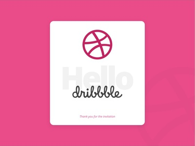 A Big Hello to Dribbble