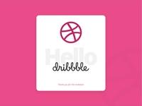 A Big Hello to Dribbble