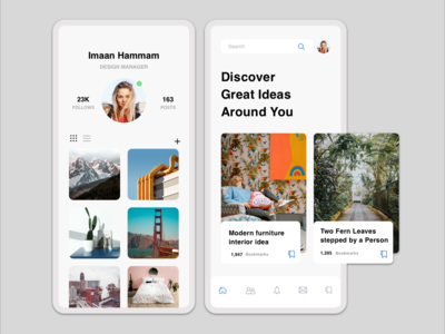 Social app layout design remake sketch app ui