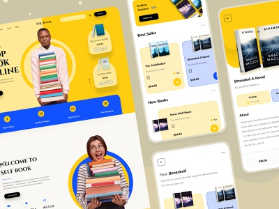 book selling website and app shopify ecommerce design interface website design ux landing page ui website book landing page reading book read online book selling buy apps mobile mobile app ios app