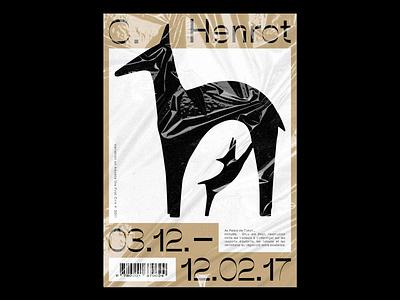 C. Henrot flyer flyers french artist art poster posters typography illustration