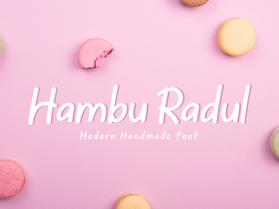 Hambu Radul - Modern Handmade Font sticky notes magazine script font typography free fonts branding font fonts font cartoon comic marker font logotype handwritten font design font awesome cute font fun playful hand-lettering font display