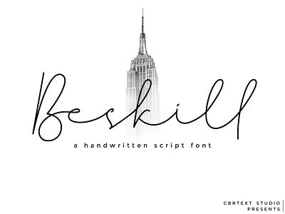 Beskill - a handwritten font lettering logo web typograhpy typeface script font script monoline illustration handwritting handwritten font handwritten handlettering free font font design font awesome font calligraphy branding blogging font