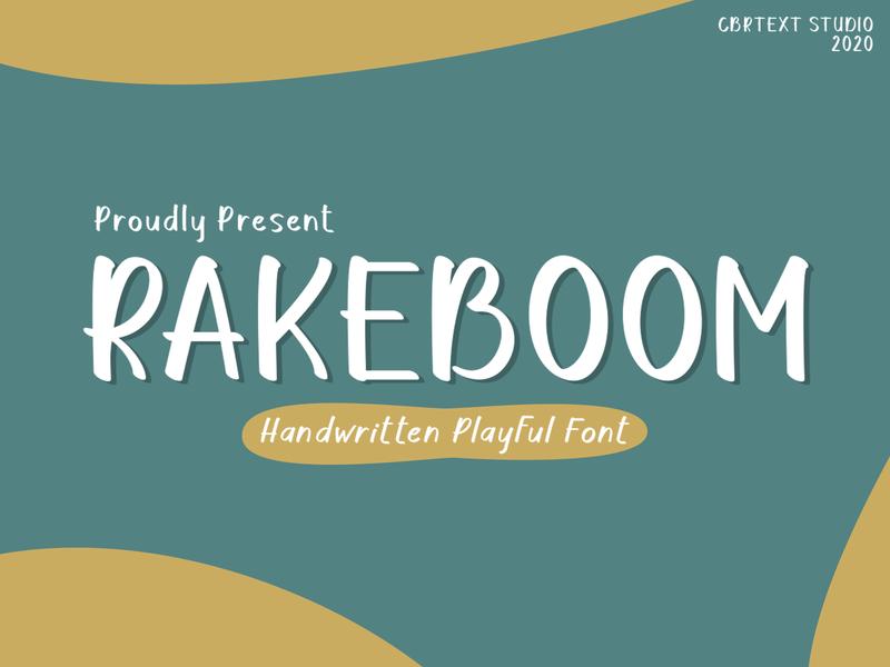 Rakeboom Dribbble playful font lettering handlettering calligraphy handwritten typograhpy script font font design font awesome font