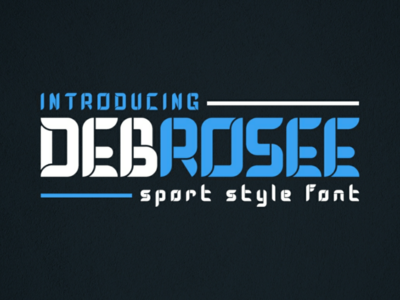 DEBROSEE Font - Sporty Display Font