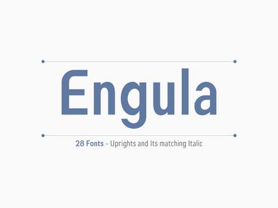 Engula Font - Sans Serif Family Fonts