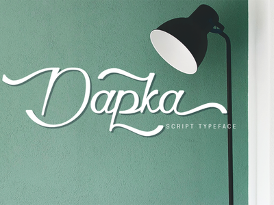 Dapka - Script Typeface advertising brush font blogging font decorative vintage commercial free font web font awesome lettering modern typograhpy typeface branding illustration graphic design logo script font font design font