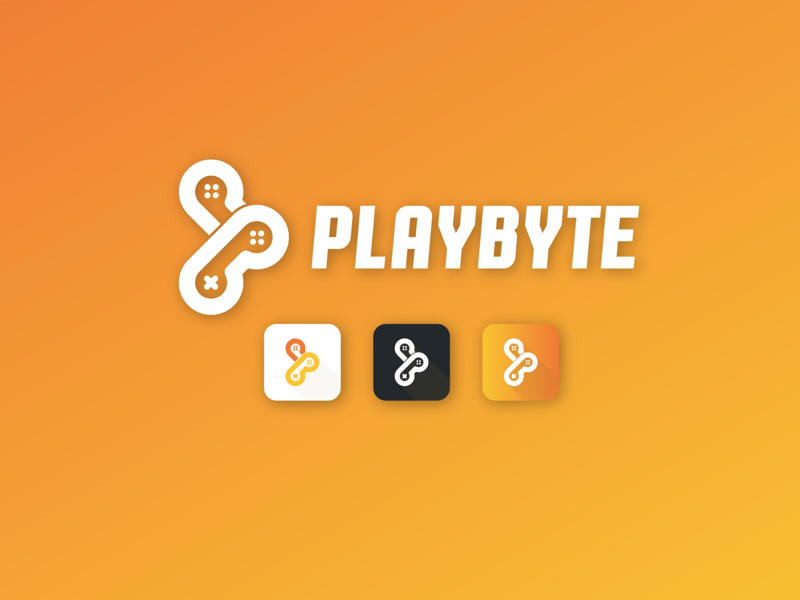 Playbyte App Icon Concept play gamepad graphic design graphic logo design minimalist minimal flat icon app logomark logo