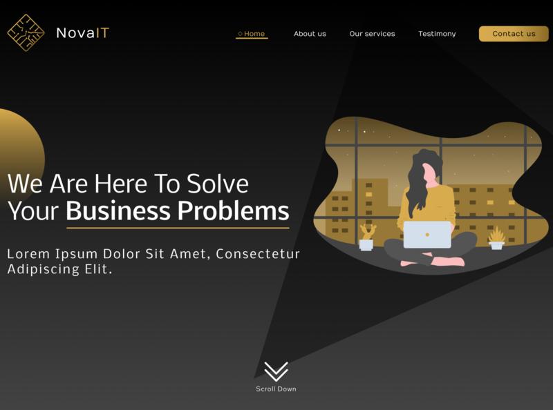 Our website redesign (work in progress) landing page yellow homepage dark dailyui website ui  ux ux ui clean branding ux design ui design