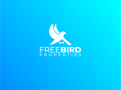 free bird properties properties home construction logo roofing bird double meaning logo design animal logodesign design logoinspiration simple branding logo