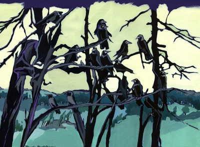 Rooks have arrived again.