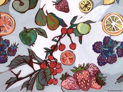 Fruits and berries.